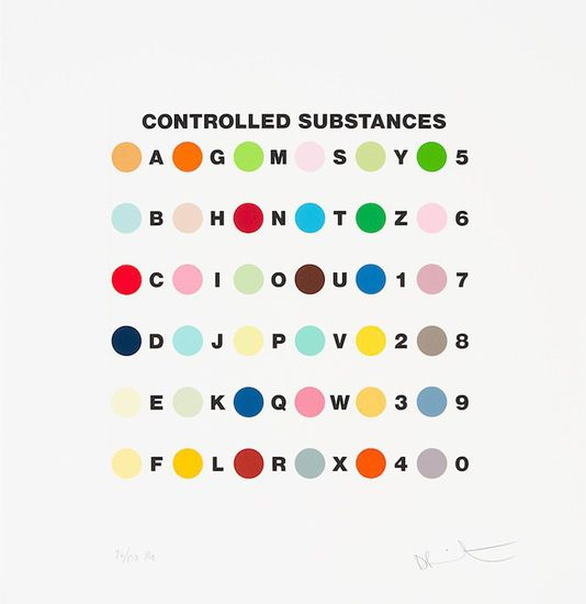 Controlled Substances Key Spot Print