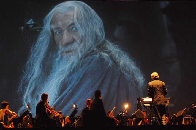 Gandalf i lord of the rings in concert