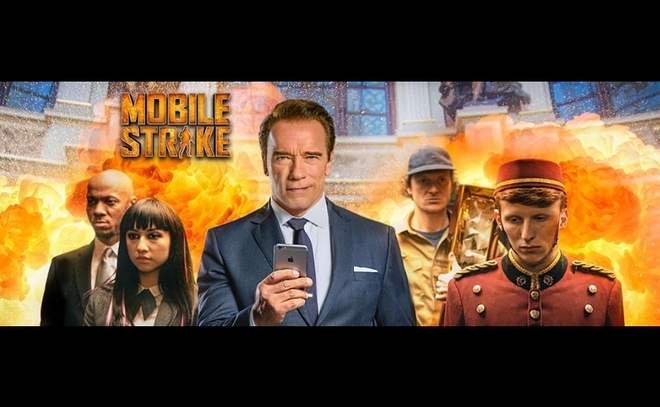 Арнолд Шварценегер в реклама на Mobile Strike