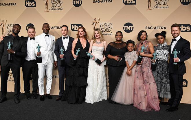 Актьорите от Hidden Figures с наградите от гилдията