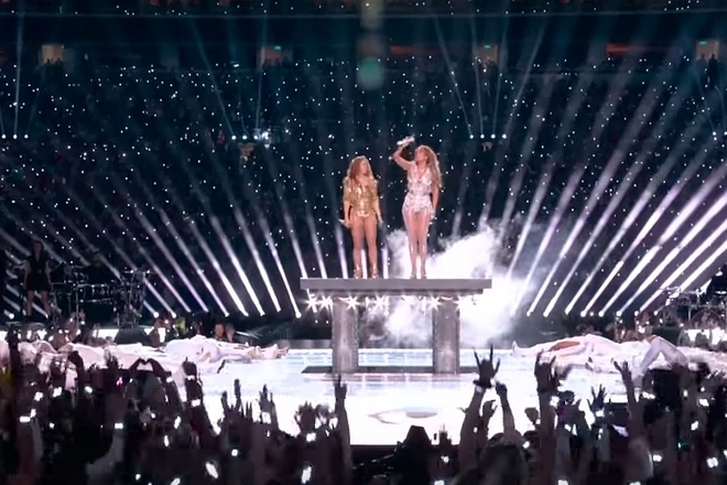 Shakira i dzhey lo v poluvremeto na superboul 2020